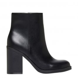 Round Toe Block Heel Boot - side view