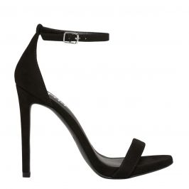 Lipstik micro suede stiletto ankle strap high heel