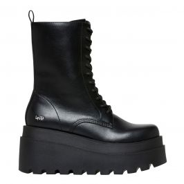 black military style laceup boot from lipstik shoes