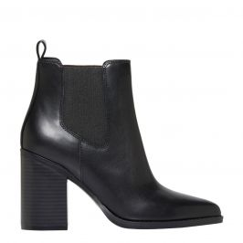 Lipstik Shoes - Block heel pointed toe boot - side view