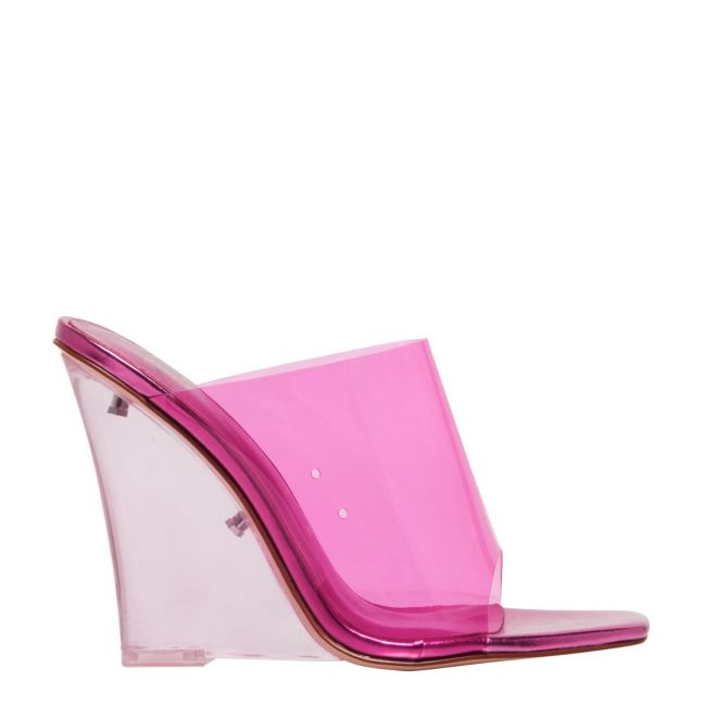 Fearless Neon Pink Square Toe Perspex
