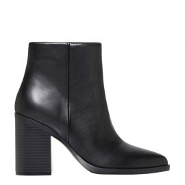 Women's black ankle boot - side view - Lipstik Shoes