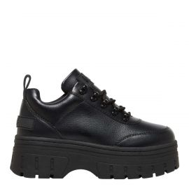 Women's chunky festival lace up platform sneaker in black - side view - Lloyd Lipstik Shoes
