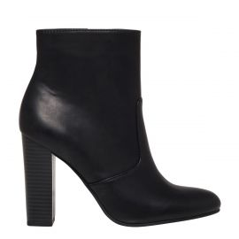 womens black high heel winter ankle boot