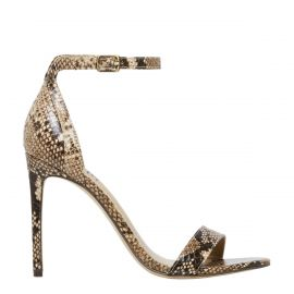 Snake print stiletto high heel - side view -  Windsor Smith Shoes