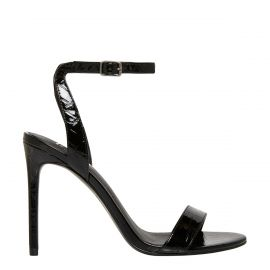 Black stiletto high heel - side view -  Lipstik Shoes