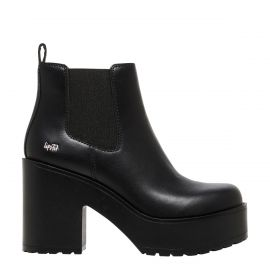 Chunky black festival platform boot - side view - Rae Lipstik Shoes