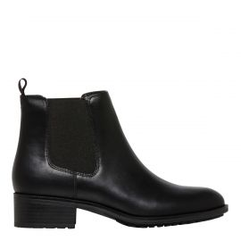 Women's black gusset boots - side view - Lipstik Shoes